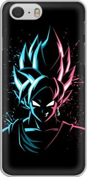 skal Black Goku Face Art Blue and pink hair for Iphone 6 4.7