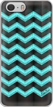 Blue Glitter Chevron skal för Iphone 6 4.7
