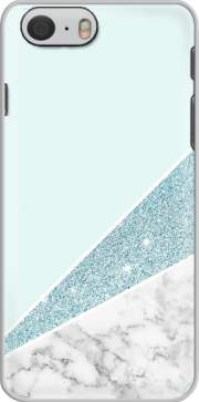 skal Initiale Marble and Glitter Blue för iphone-6
