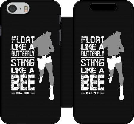 Fodral bok Float like a butterfly Sting like a bee för Iphone 6 4.7