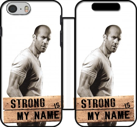 Fodral bok Jason statham Strong is my name för Iphone 6 4.7