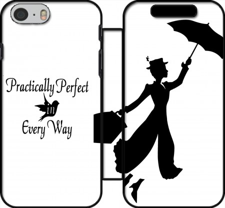 Fodral bok Mary Poppins Perfect in every way för Iphone 6 4.7